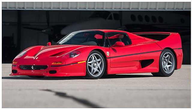 1995 Ferrari F50 exotic car at the Santa Monica Auction