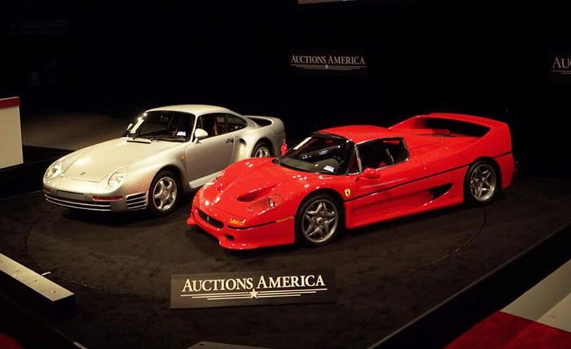 Two top cars at the Santa Monica Auction by Auctions America