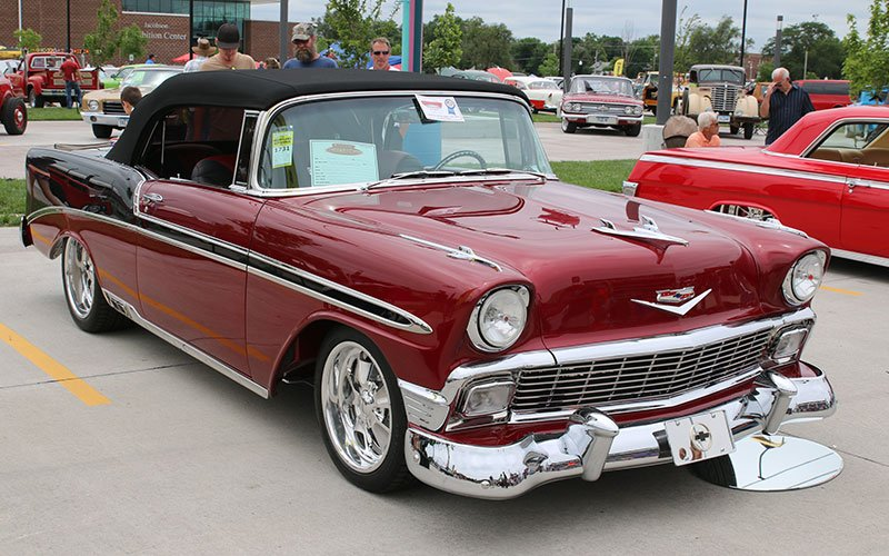 1956 Chevy Custom Convertible at Goodguys 25th Heartland Nationals