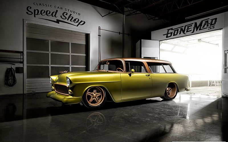 "1955 Chevy Nomad ""Gone Mad"" at 2016 NSRA Street Rod Nationals"