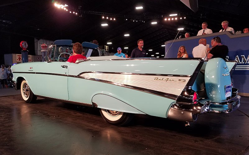 1957 Chevrolet Bel Air Convertible sold at Auctions America's Fall Auburn Auction