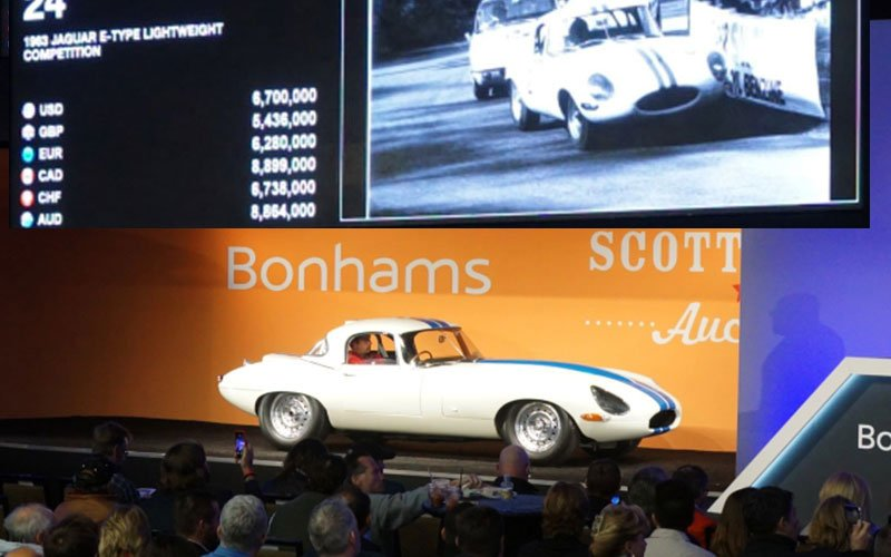 1963 Jaguar E-Type Lightweight Competition Coupe is the highest priced car sold during Arizona Auctions Week