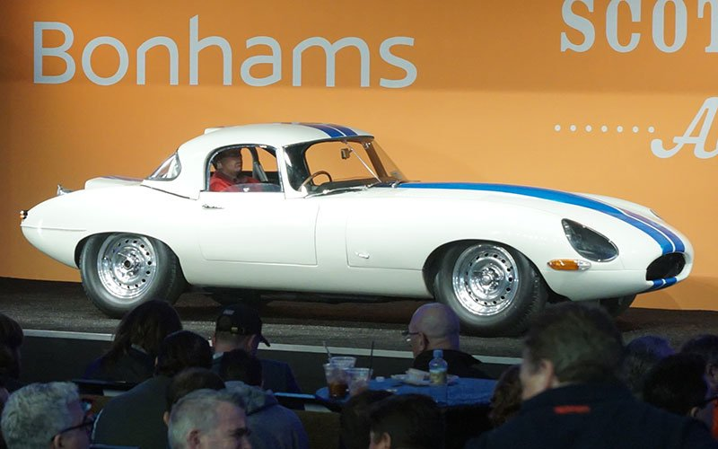 1963 Jaguar E-Type Lightweight Competition Coupe is the highest priced cars sold during Arizona Auctions Week. Sold for $6,7 million