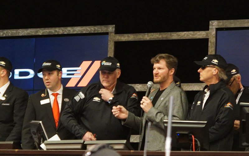 Dale Earnhardt, Jr at the 2017 Barrett-Jackson Auction on Saturday