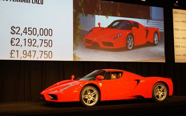 2003 Ferrari Enzo sold for $2,450,000 at the RM-Sotheby's Auction.