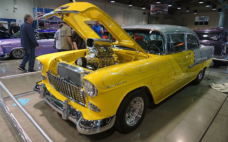 Tri-5 Chevys at 2017 Grand National Roadster Show