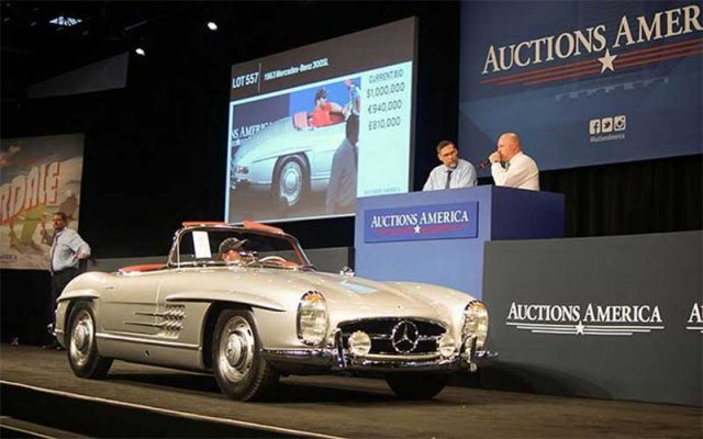 1963 Mercedes-Benz 300SL Roadster sold at Auctions America Ft Lauderdale Auction
