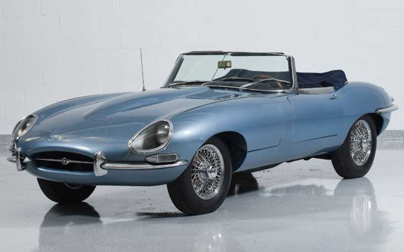1965 Jaguar XKE Convertible going up in value in the COL Collector Car Value Report