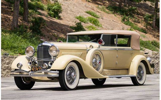 2017 Santa Monica Auction 1929 Duesenberg Model J Convertible Berline