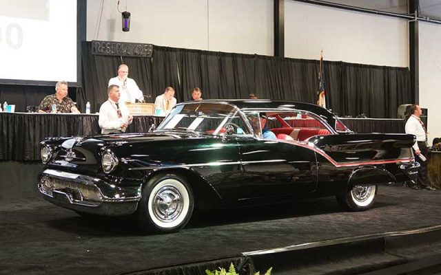 1957 Oldsmobile Super 88 Holiday sold at 2017 Raleigh Classic