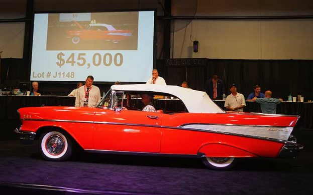1957 Chevrolet Bel Air Convertible for sale at 2017 Raleigh Classic