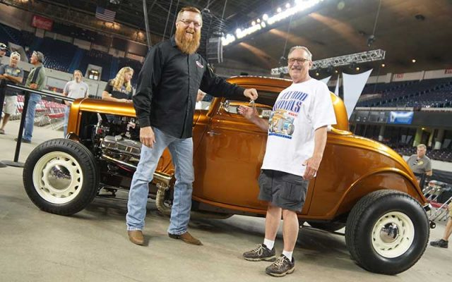 1933 Ford Coupe GiveAway Car at the NSRA 2017 Street Rod Nationals