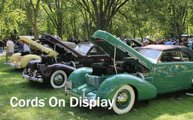 Cords On Display at Auburn-Cord-Duesenberg Festival 2017