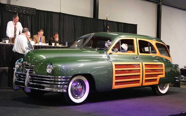 1949 Packard Woody Wagon at Winter 2017 Raleigh Classic