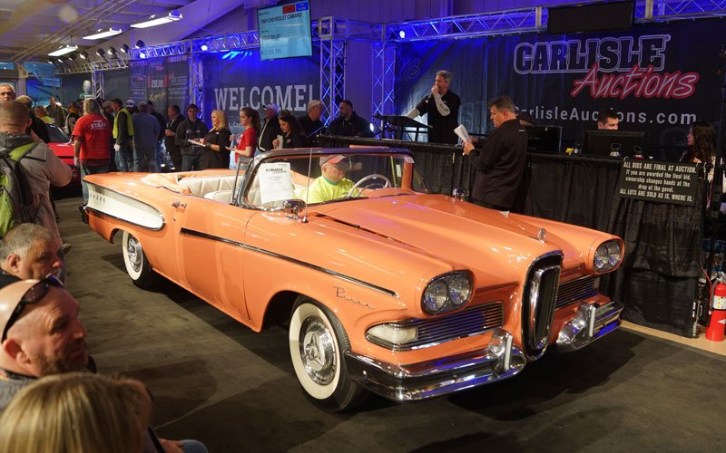Spring Carlisle Auction 2018 sells a 1958 Edsel Pacer Convertible