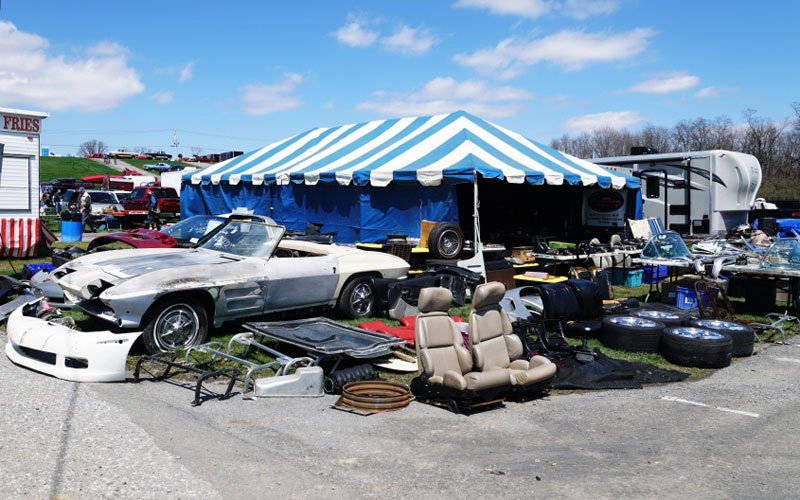 Carlisle 2018 Swap Meet area