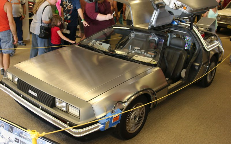 Mr. Fusion Home Energy Reactor Delorean at the Iola Car Show 2018