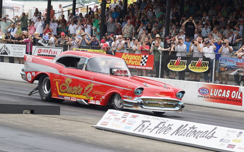 Drag Racing action at Tri-Five Nationals 2018