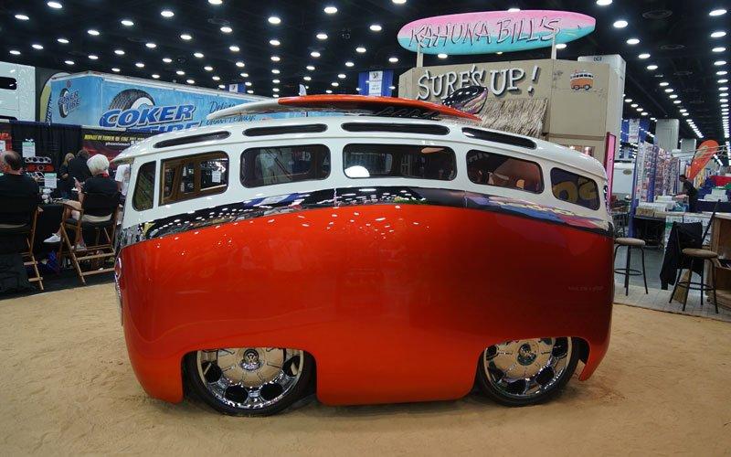 Cartoon themed VW Custom Microbus
