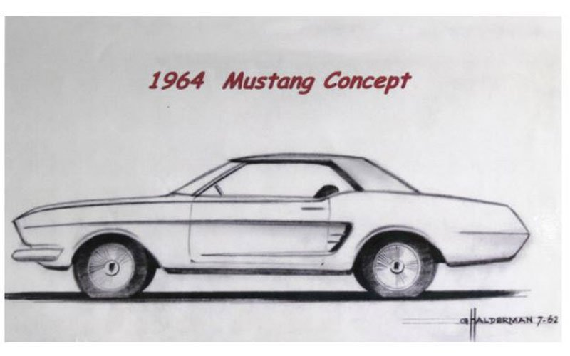 Mustang by Design early rendering by Gale Halderman