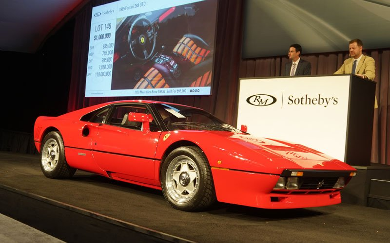 1985-Ferrari-288-GTO top sale at Arizona Auction Week