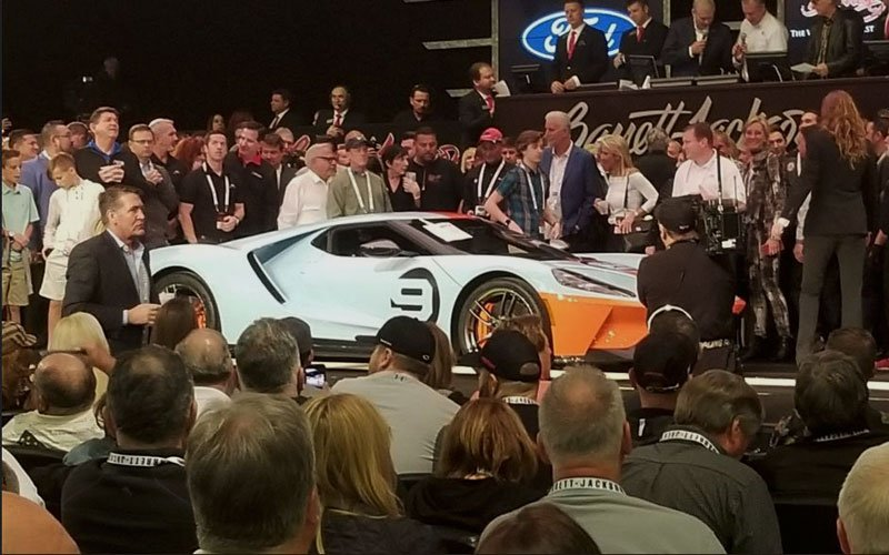 2019-Ford-GT-Heritage-at Barrett-Jackson Auction during Arizona Auction Week