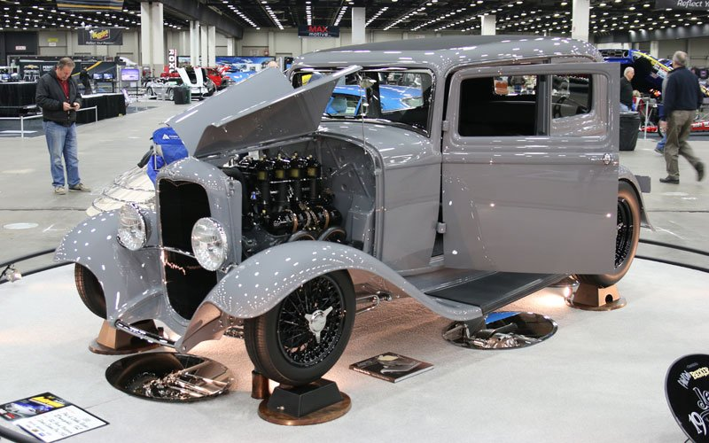 1932 Ford Victoria wins Great 8 Award at the 2019 Detroit Autorama
