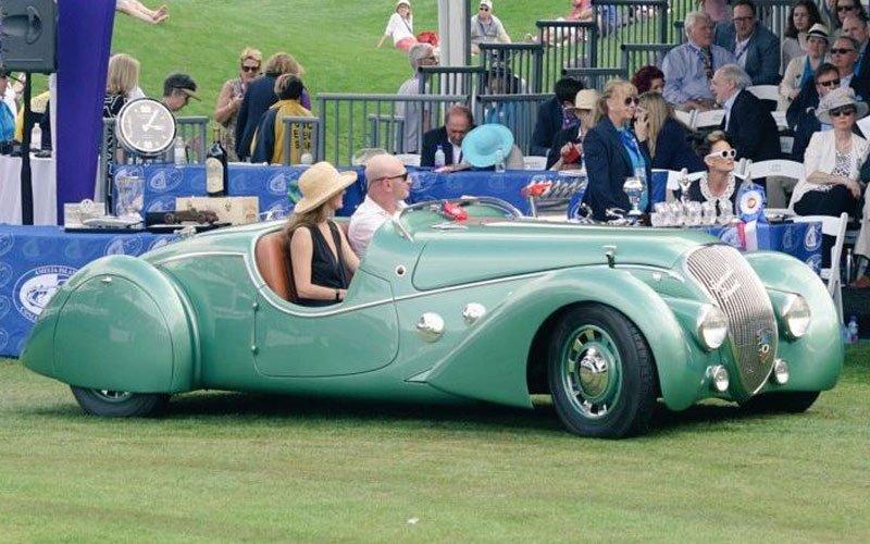 1937 Peugeot Darl'mat Roadster, owned by Mark Hyman, won Amelia Award