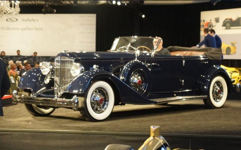 1934 Packard Twelve Custom Sedan Convertible sold at 2019 Amelia Island Concours