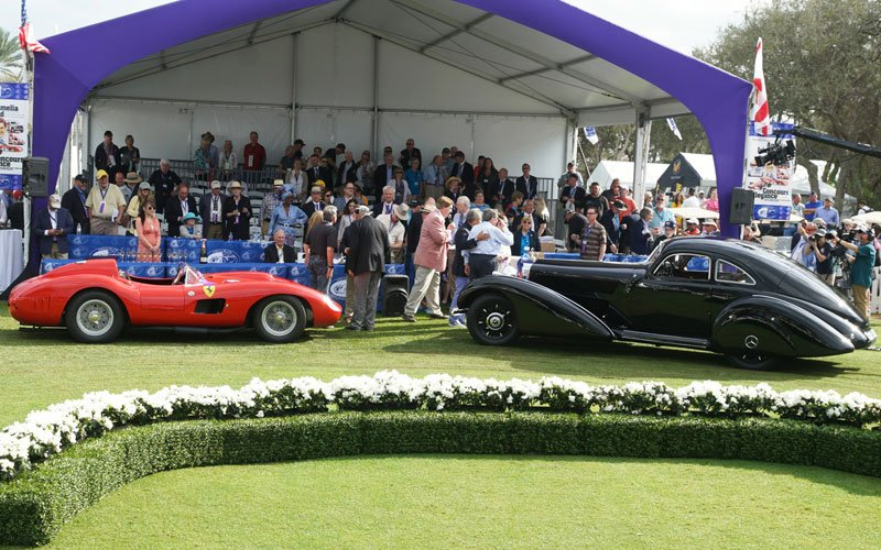 Winners circle at the 2019 Amelia Island Concours D'Elegance