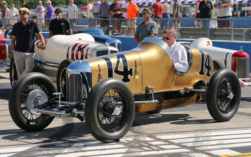 Johnny Rutherford honored at the Millers at Milwaukee Vintage Indy Car Event