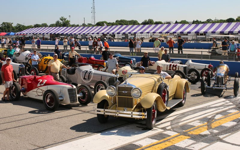 Millers at Milwaukee Vintage Indy Car Event