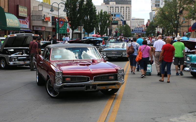 Downtown at Hot August Nights 2019 in Reno