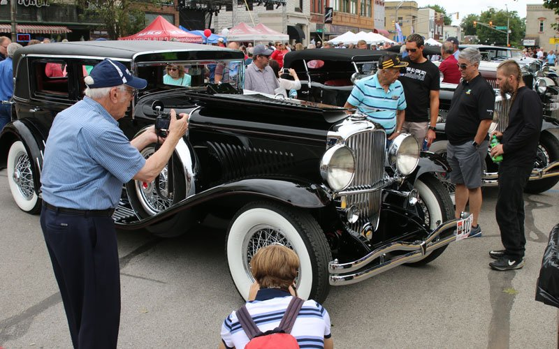 Cars built in Auburn, Indiana make their way back home for the Auburn-Cord-Duesenberg Festival