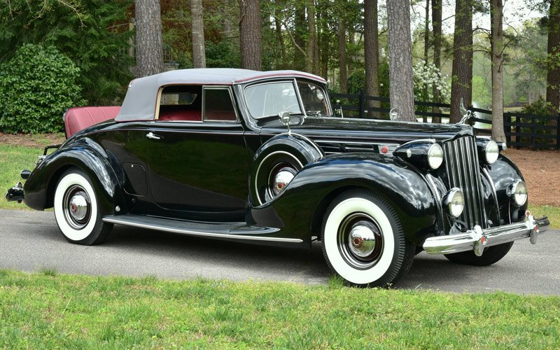 1939 Packard 1707 Coupe Roadster sells at the Raleigh Classic Auction