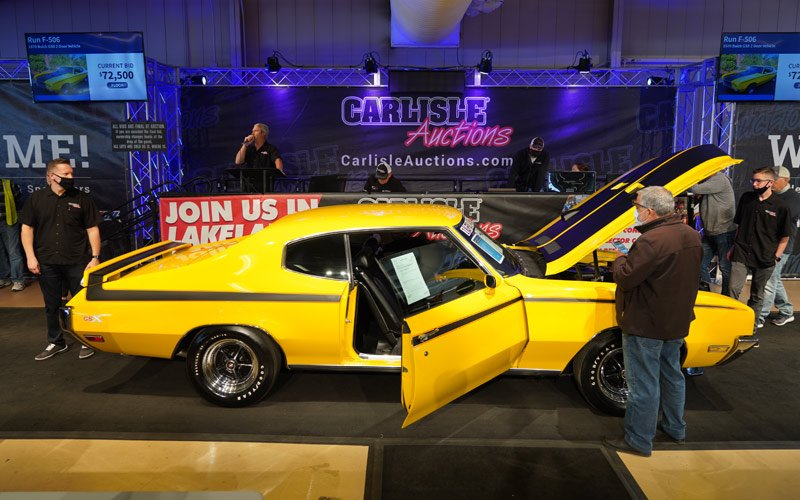 1970 Buick GSX sells at the Fall Carlisle Auction 2020