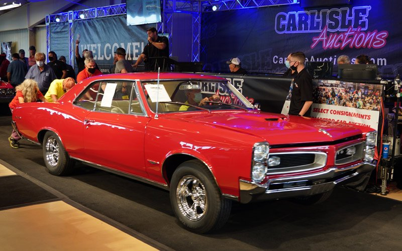Fall Carlisle Auction 2020 top sale -T224 - 66 GTO $46,000