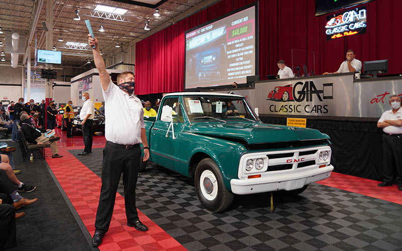 Elvis Presley 1967 GMC Pickup sells at 2021 GAA Classic Car Auction